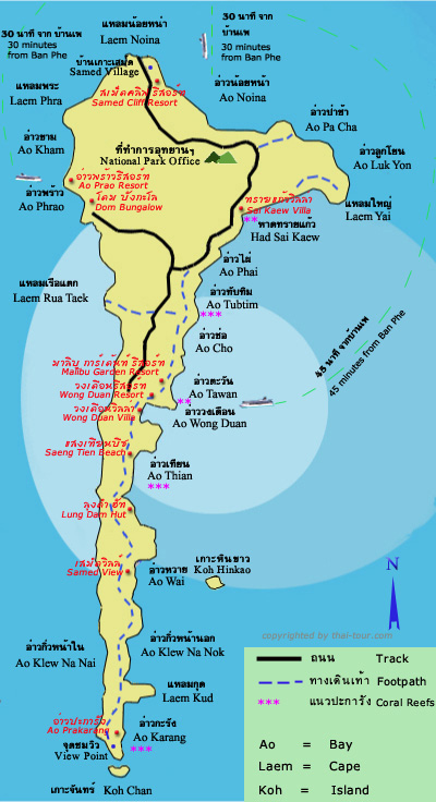 沙美岛旅游地图